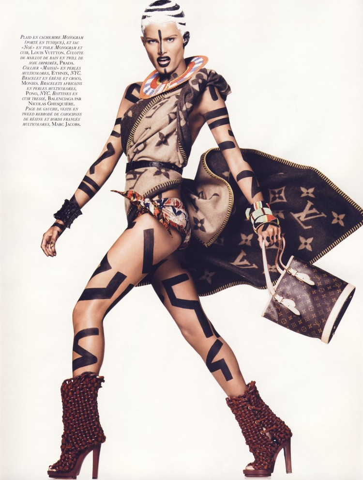 IsabeliFontana photographed by David Sims and styled by Carine Roitfield for Vogue Paris Inspiring Makeup and Hair from Italian Vogue